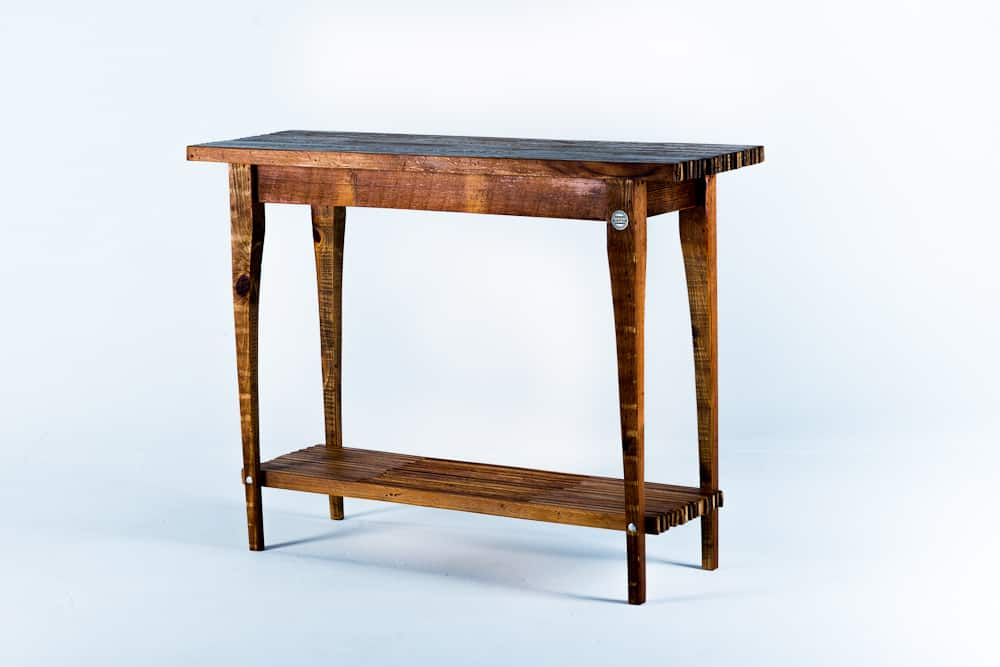 Handcrafted Reclaimed Wood Console Table