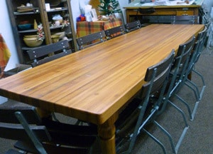 Furniture Counter Tops From Reclaimed Wood